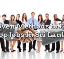 Top Jobs In Sri Lanka