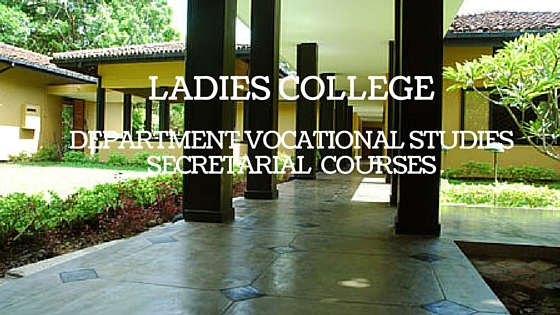 Ladies College Department Vocational Studies