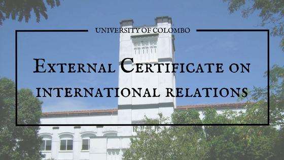 International relations courses