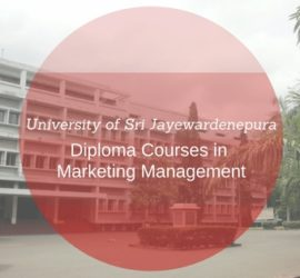 university of sri jayawardenapura diploma courses