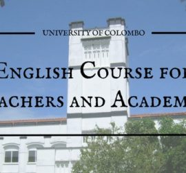 colombo university english course