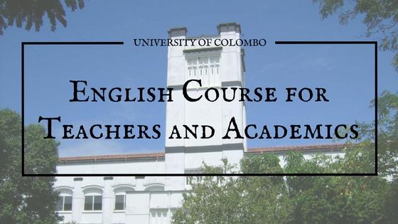 colombo university english course