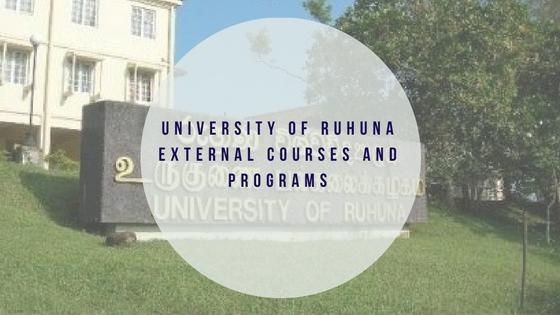 University of Ruhuna External Courses and Programs