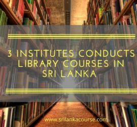 library courses in sri lanka