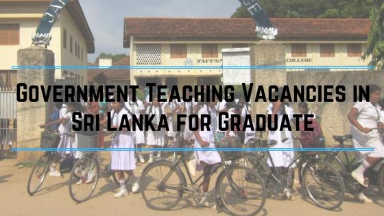 Teaching Vacancies in Sri Lanka