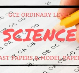GCE Ordinary Level Science Past Papers